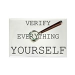 Verify Everything Yourself Rectangle Magnet (10 pa