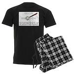 Verify Everything Yourself Men's Dark Pajamas