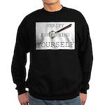 Verify Everything Yourself Sweatshirt (dark)