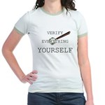 Verify Everything Yourself Jr. Ringer T-Shirt
