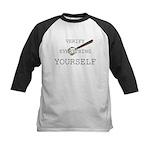 Verify Everything Yourself Kids Baseball Jersey