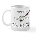 Verify Everything Yourself Mug