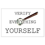 Verify Everything Yourself Large Poster