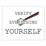 Verify Everything Yourself Small Poster