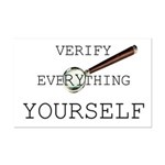 Verify Everything Yourself Mini Poster Print