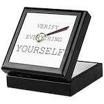Verify Everything Yourself Keepsake Box