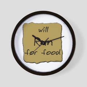 Will Run for Food Wall Clock
