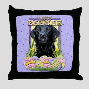 Easter Egg Cookies - Labrador Throw Pillow