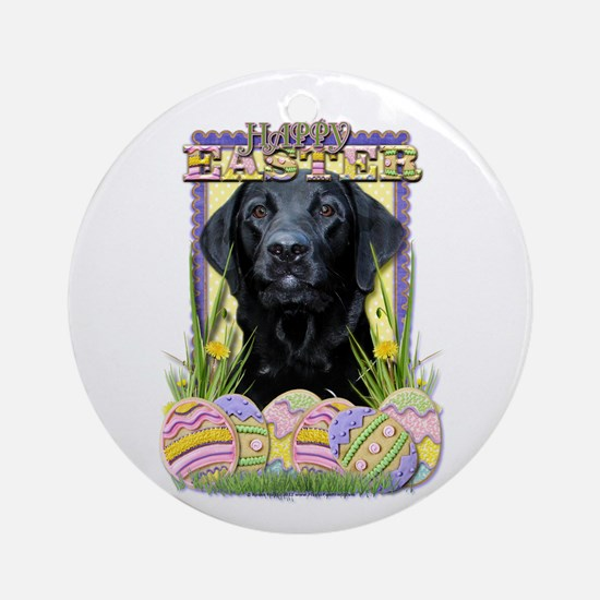 Easter Egg Cookies - Labrador Ornament (Round)