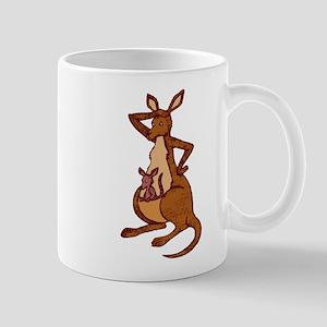 Kangaroo with baby Mug