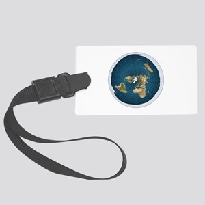 flat earth map Luggage Tag