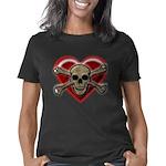Pirate Love Heart & Skull Women's Classic T-Shirt