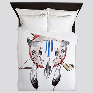 Indian Buffalo Skull Queen Duvet
