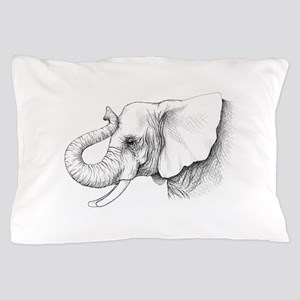 Elephant profile drawing Pillow Case