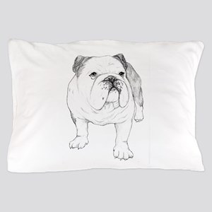 Bulldog Drawing Pillow Case
