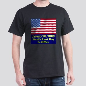 Bush's Last Day In Office Black T-Shirt