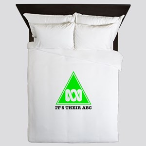 The ABC of bias (white) Queen Duvet