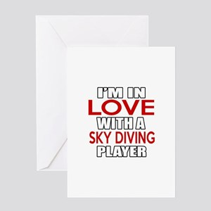 I Am In Love With Sky diving Player Greeting Card