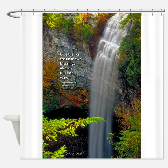 Waterfall Blessings Shower Curtain