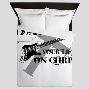 Bass your life on Christ Queen Duvet