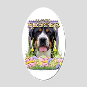 Easter Egg Cookies - Swissie 22x14 Oval Wall Peel