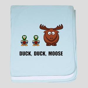 Duck Duck Moose baby blanket