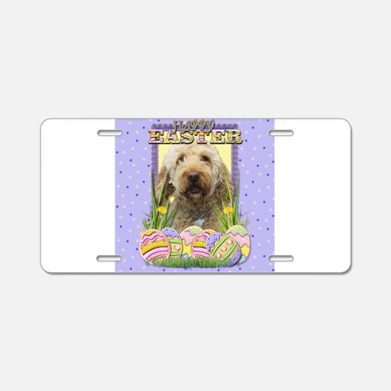 Easter Egg Cookies - GoldenDoodle Aluminum License