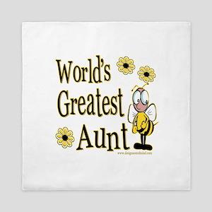 Aunt Bumble Bee Queen Duvet