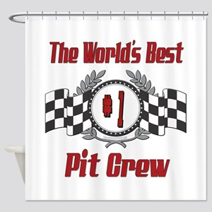 Racing Pit Crew Shower Curtain