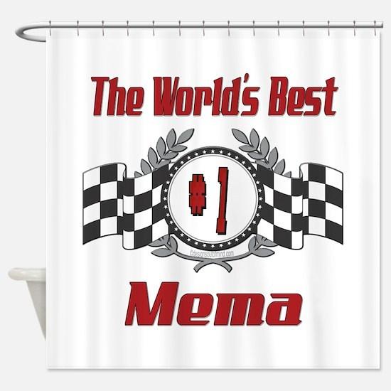 Racing Mema Shower Curtain