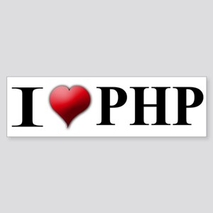 I Love PHP Bumper Sticker