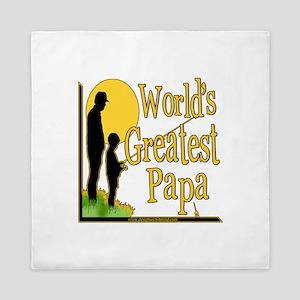 World's Greatest Papa Queen Duvet