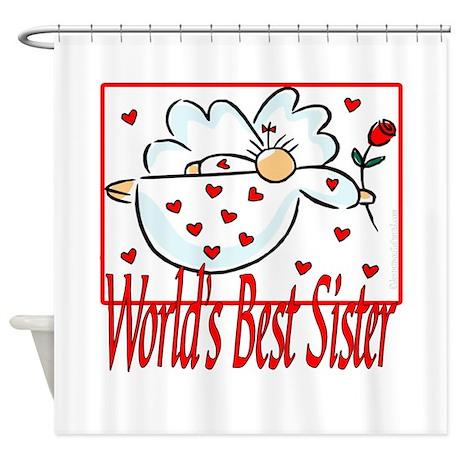 World's Best Sister Shower Curtain