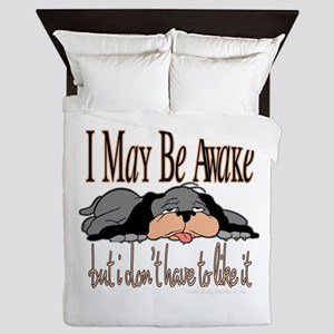 I May Be Awake Queen Duvet