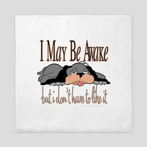 I May Be Awake Queen Duvet