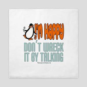I'm Happy Penguin Queen Duvet