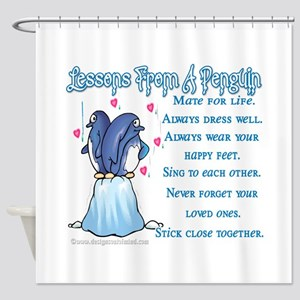Penguin Lessons Shower Curtain