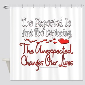 Unexpected Heart Shower Curtain
