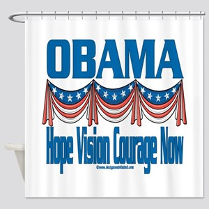 Obama Vision Shower Curtain
