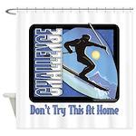 Skier Challenge Shower Curtain