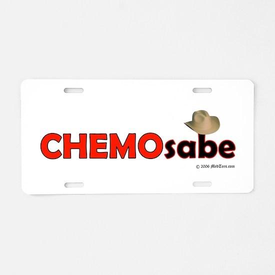 Cute Chemo Aluminum License Plate
