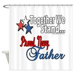 Navy Father Shower Curtain
