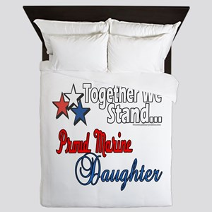 Proud Marine Daughter Queen Duvet