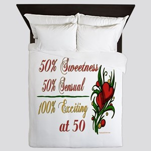 Exciting 50th Queen Duvet