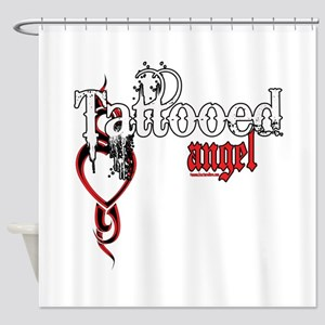 Tattooed Angel Shower Curtain