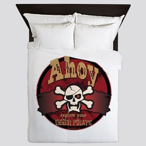 Ahoy Jolly Roger Queen Duvet