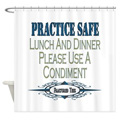 Condiments Shower Curtain