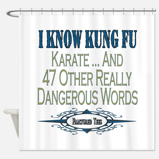 Kung Fu Shower Curtain