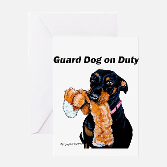 Guard Dog Doberman Greeting Card