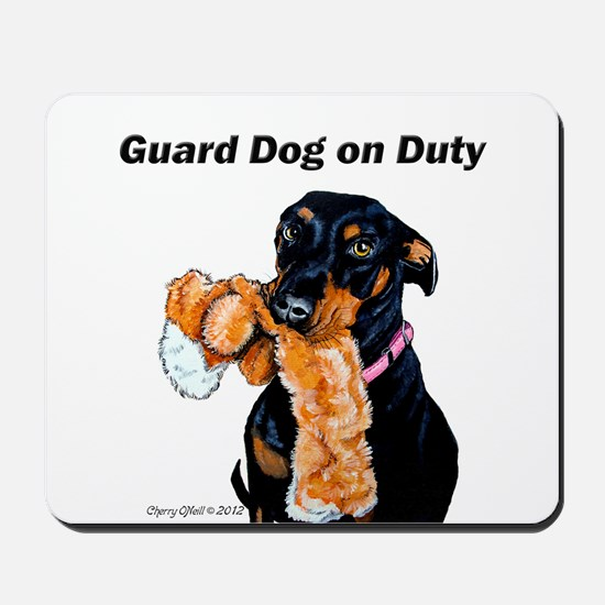 Guard Dog Doberman Mousepad